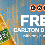 Free Carlton Dry Lime with Any Purchase at BWS