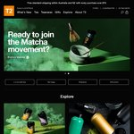 T2 Tea - Buy Any Two Teas and Get a Gift of Organic Japanese Sencha Tea