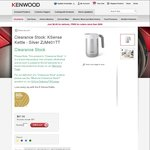 Kenwood Ksense Kettle - Silver ZJM401TT $96.99 Delivered @ Kenwood Australia