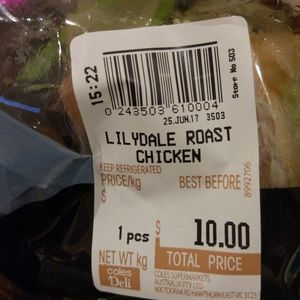 Lilydale Free Range Roast Chicken $10 @ Coles (was $13