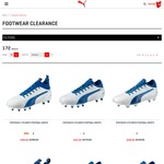 PUMA Footwear/Shoes up to 70% off Clearance (E.g. Evotouch Football Boots 70% off from $36)