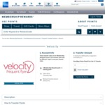 15% Bonus Points Transfer from American Express to Velocity (25% for Rewards Premium Ascent Members)