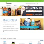 vitacost Extra 20% off when purchase US$50+