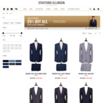 Take a Further 25% off All Suits | Stafford Ellinson. Suits from $149. Pure Aus Merino Wool from $261