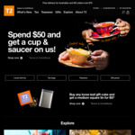 T2 Tea - Spend $50 and Receive a Cup & Saucer Set