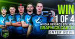 Win 1 of 4 NVIDIA GeForce® GTX 1070 Graphics Cards from Luminosity Gaming