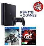PS4 1TB + Destiny 2 + Gran Turismo Sport $366, Nintendo Switch + Mario+ Rabbids $447 Delivered @ EB Games eBay