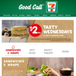 $2 Sandwiches and Sushi (Valid on $5 Range) on Wednesdays at 7-Eleven