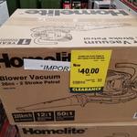 [TAS] Homelite 2-Stroke Blower Vac $40 (Was $95) @ Bunnings (Devonport)