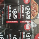 Pizza Hut Triple Treat (3 Pizzas) $31.95 Delivered; Double Hut (2 Pizzas, 1 Side & 1.25L Drink) $29.95 Delivered