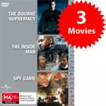 Triple Pack DVD - The Bourne Supremacy, Inside Man, Spy Game ONLY $12.95 @ OO