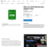 Xbox Live Gold - Buy 3 Months ($29.95), Get 3 Months Free @ Microsoft