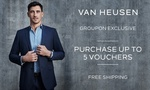 Groupon: $5 ($3.50 with Coupon) for $40 Credit to Spend Online at Van Heusen (Min Spend $100)