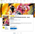 [XB1] One Piece Burning Blood (Gold Edition) Digital $33.11 AUD (75% off) @ AU Microsoft Store