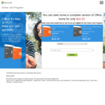 Microsoft Home Use Program: Microsoft Office 2016 WIN/MAC, Visio/Project Professional for $16.50 ea (Work Email Required)