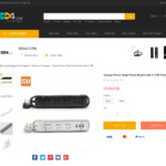Xiaomi Mi Power Strip - 3 USB Charging Ports with 3 Sockets $10.38 USD (~ $14.07 AUD) Delivered @ DD4