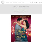 [VIC] Crazy Rich Asians Preview Screenings in Melbourne @ ShowFilmFirst (Membership Required)