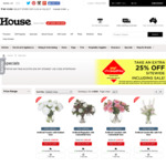 Extra 25% off Everything Including Sale Items @ House