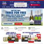 Spend $200 on Wine @ First Choice Liquor Online and Get 3 Free Bottles of Sparkling (Worth $63)
