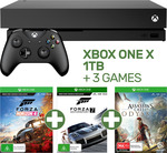 Xbox One X 1TB Console + Forza Horizon 4 + Forza 7 + Assassin's Creed Odyssey $539.10 C&C (Or + $4.95 Delivery) @ EB Games eBay