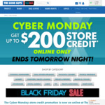 Receive between $10 to $200 Store Credit When You Spend over $100 ~ $1300 @ The Good Guys