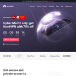 NordVPN 3 Year Subscription $89 USD / ~$127 AUD