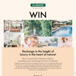 Win a Byron at Byron Resort and Spa Getaway & Klorane 3-Range Pack Worth $2,207 +/- Minor/Instant Win Prizes from Pierre Fabre