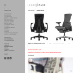 Herman Miller Embody Chair - $1598 (Pickup in QLD / Arrange Your Own Shipping) @ Innerspace
