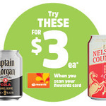 Selected Alcoholic Drinks $3 (Limit of 2 Products Per Transaction) @ BWS (Woolworths Rewards Card Required)