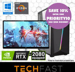 "Gaming PC Bundles: R5-2600 RTX 2080 +27"": $1443.60 / R5-2600 GTX 1660 +27"": $893.70 (+ More) Delivered @ TechFast eBay"