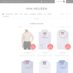4 Men's Business Shirts for $100 Delivered @ Van Heusen