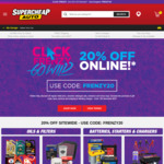 20% off RRP Sitewide (Excludes Tyres/Services) @ Supercheap Auto
