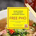 [VIC] Free Beef Pho Today (25/11) @ Pho Nom (Melbourne Central)