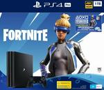 [PS4] PlayStation 4 Pro 1TB Console Fortnite Neo Versa Bundle + 2000 V-Bucks, Pro Black $349.99 Delivered @ Amazon AU