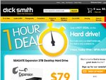 Seagate 2TB Hard Drive $79 Dick Smith 1 Hour Sale! (5 - 6pm WA Time 7-8pm AEST as well)