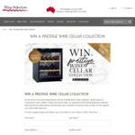 Win a Wine Fridge, Glassware and 24 Bottles of Wine Valued at $4,117 from Wine Selectors