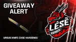 Win an Ursus Knife Case Hardened from Lese Esports
