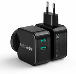 BlitzWolf BW-S6 New Version QC3.0 18W Dual USB Charger AU Adapter US $8.79 (AU $13.50) Delivered @ Banggood