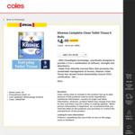 Kleenex Toilet Paper Half Price 9 Rolls for $4 @ Coles