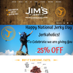 National Jerky Day: 25% off Online (Excludes Value Packs) @ Jim's Jerky