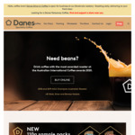 10% off + Free Shipping on Orders over $28 from Danes Specialty Coffee