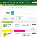 Woolworths Mobile | $60 | 180 Days | 12GB | Unlimited Calls & Text (+ $20 Cashback at Cashrewards/ShopBack)