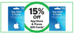 15% off App Store & iTunes Gift Cards, 10% off Event Cinema Gift Cards @ Woolworths