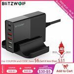 Blitzwolf BW-S16 75w 6-Port USB PD Charger AU Plug US$34.98/ A$48.64 (with GST) Delivered @ AliExpress