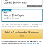 Amazon Prime Membership - Annual $59 (Save 30% over Monthly $6.99) @ Amazon AU