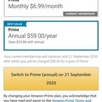Amazon Prime Membership - Annual $59 (Save 30% over Monthly $6.99) @ Amazon AU