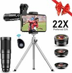Apexel 22X Telephoto Phone Camera 6 in 1 Lens Kit $35.18 Delivered @ Aipai Optic via Amazon AU