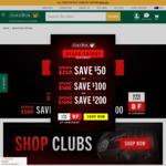 $50/$100/$200 off with $250/$500/$1000 Spend Sitewide @ Golfbox
