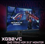 """Win an ASUS ROG XG32VC QHD 170Hz 31.5"""" Monitor Worth $749 from PC Case Gear"""