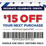 $15 off Order ($15 Minimum Spend) @ Spotlight in Store Only (VIP Members)